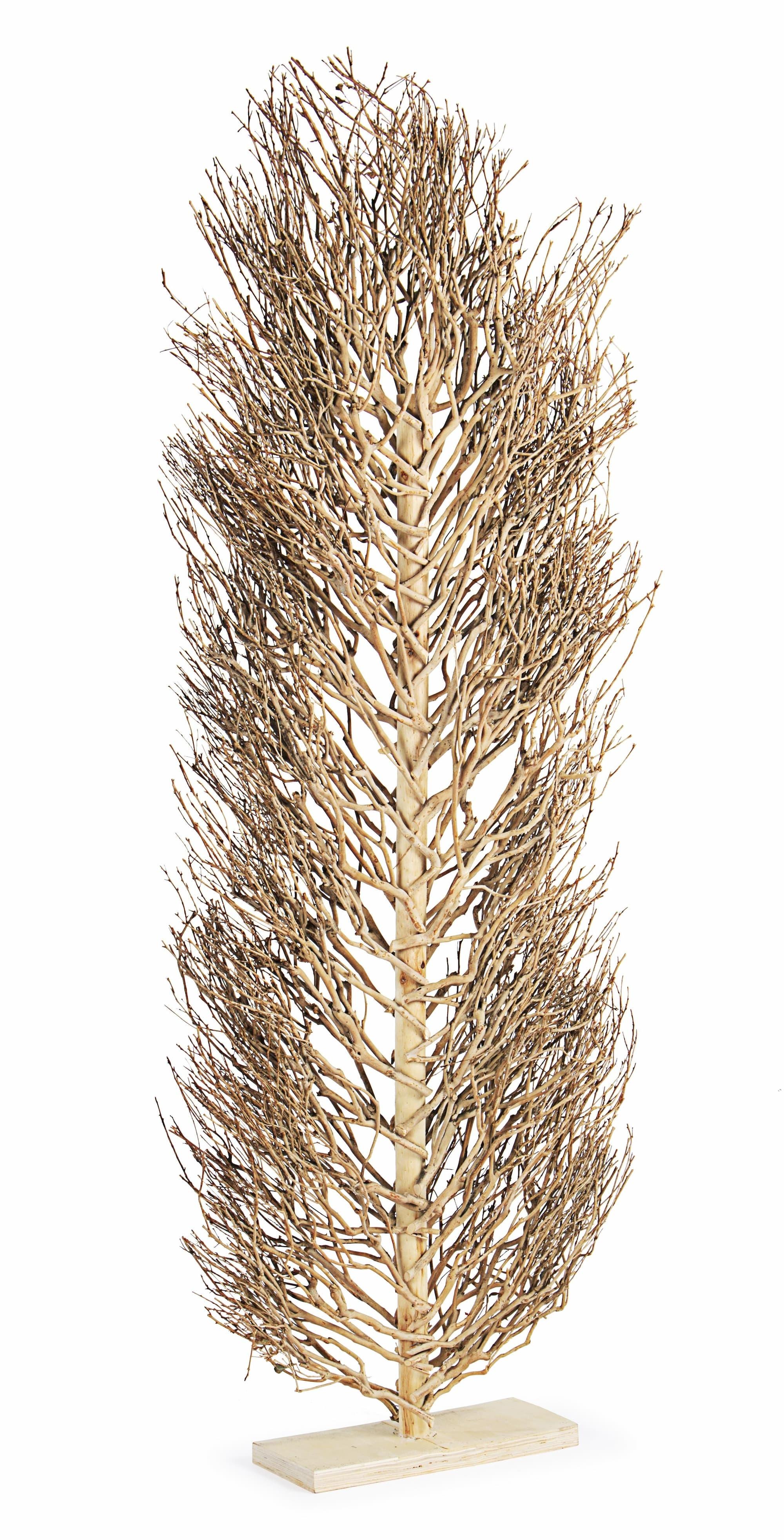 Decoratiune din lemn Tea Tree Natural, l40xA15xH175 cm poza