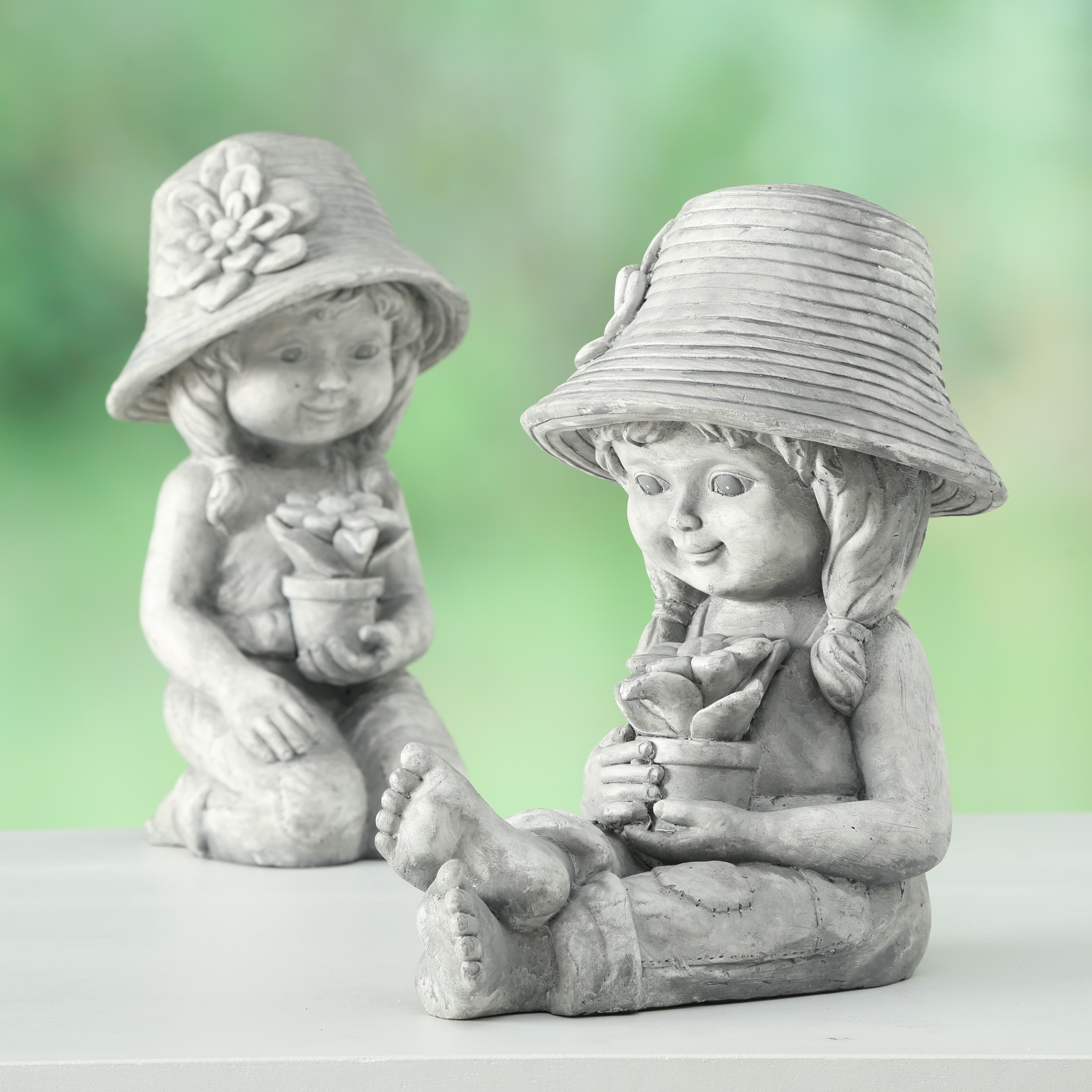 Decoratiune din plastic Paula Gri, Modele Asortate, l22xA22xH42 cm poza