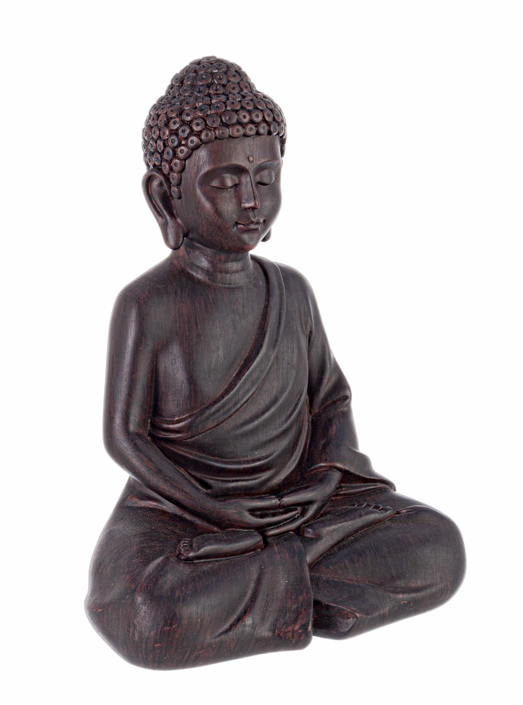 Decoratiune din polirasina Buddha Maro, l19,3xA14,1xH26,8 cm poza