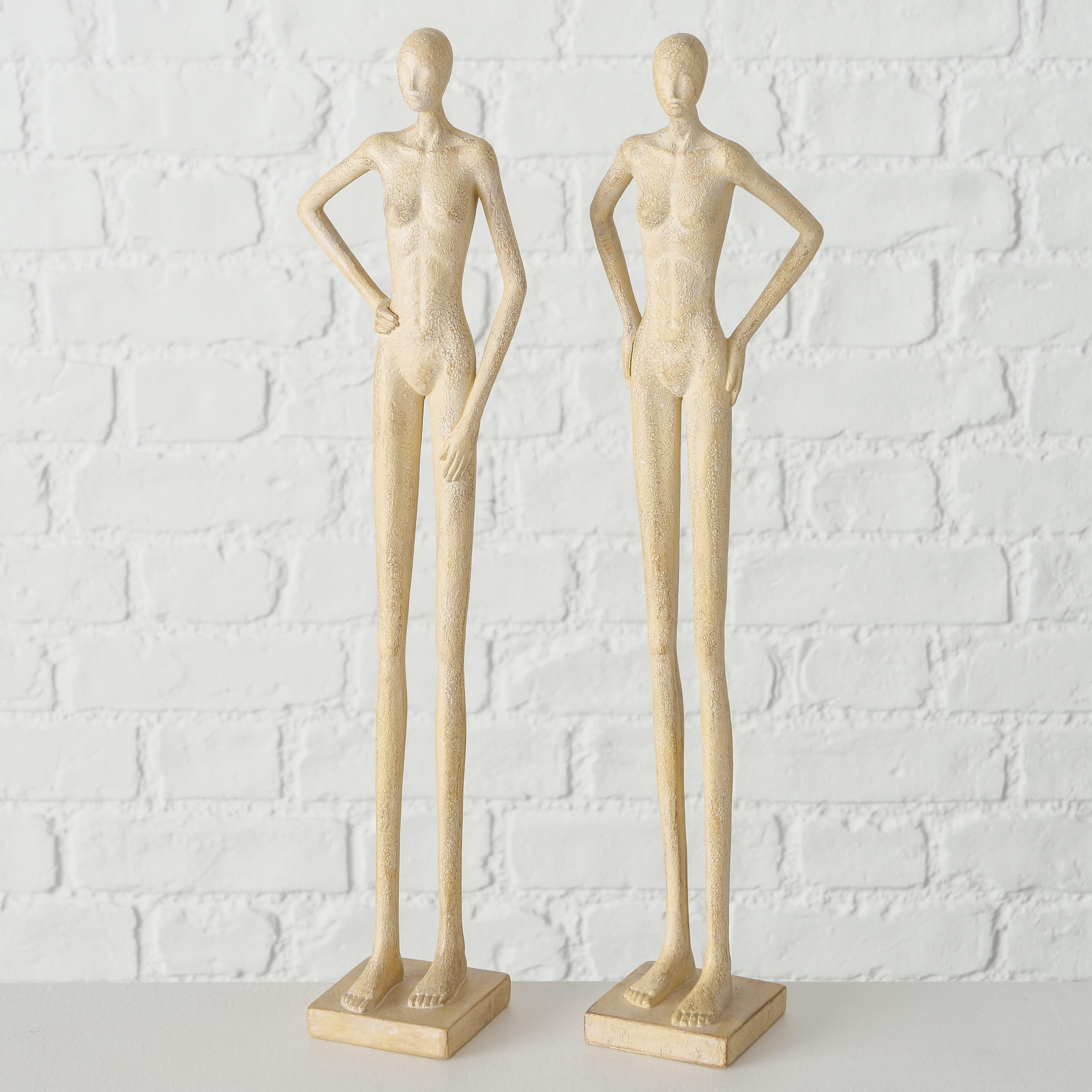 Decoratiune din polirasina Cantilla Nude, Modele Asortate, l9xA6xH40 cm