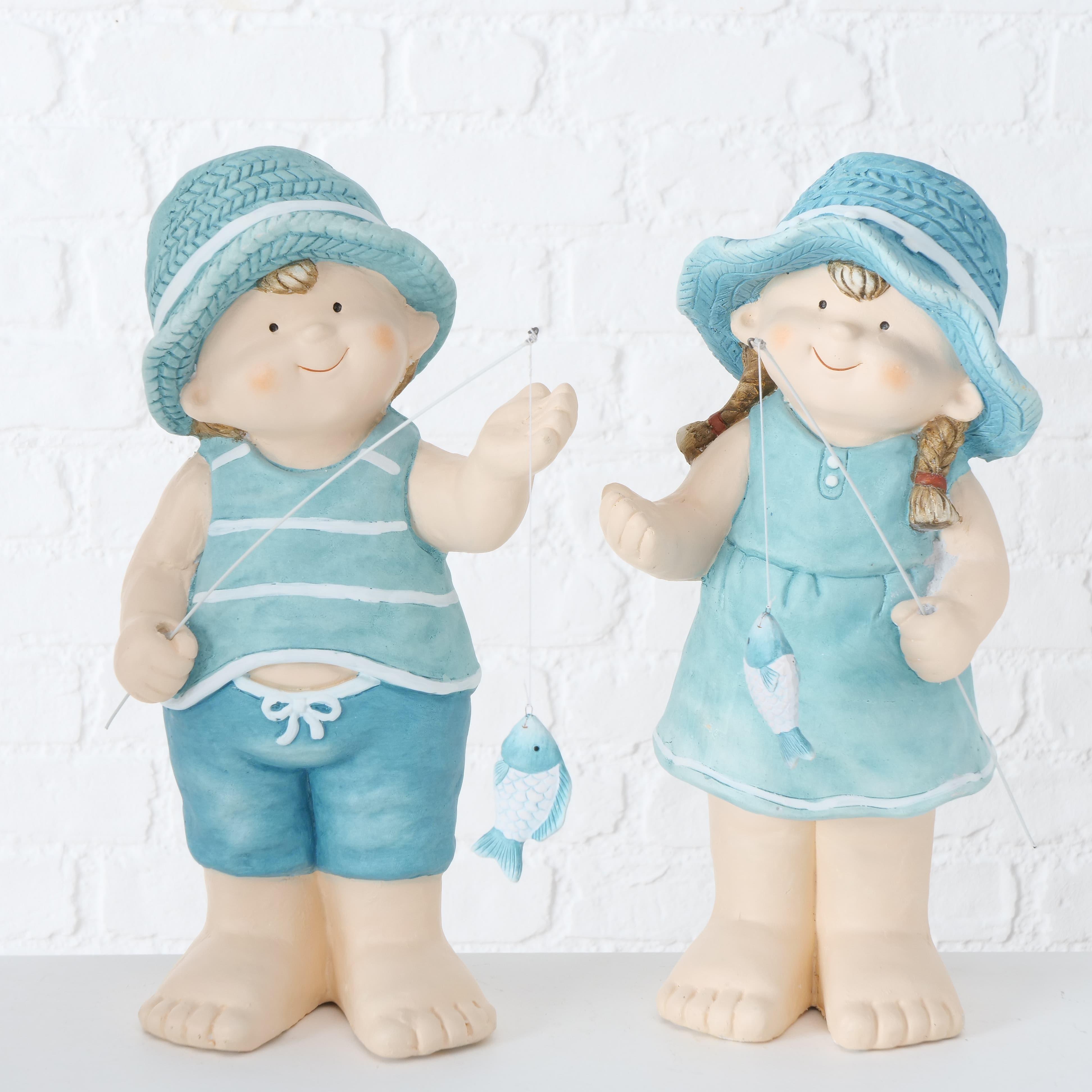 Decoratiune din plastic Kelley Bleu / Nude, Modele Asortate, l22xA16xH42 cm