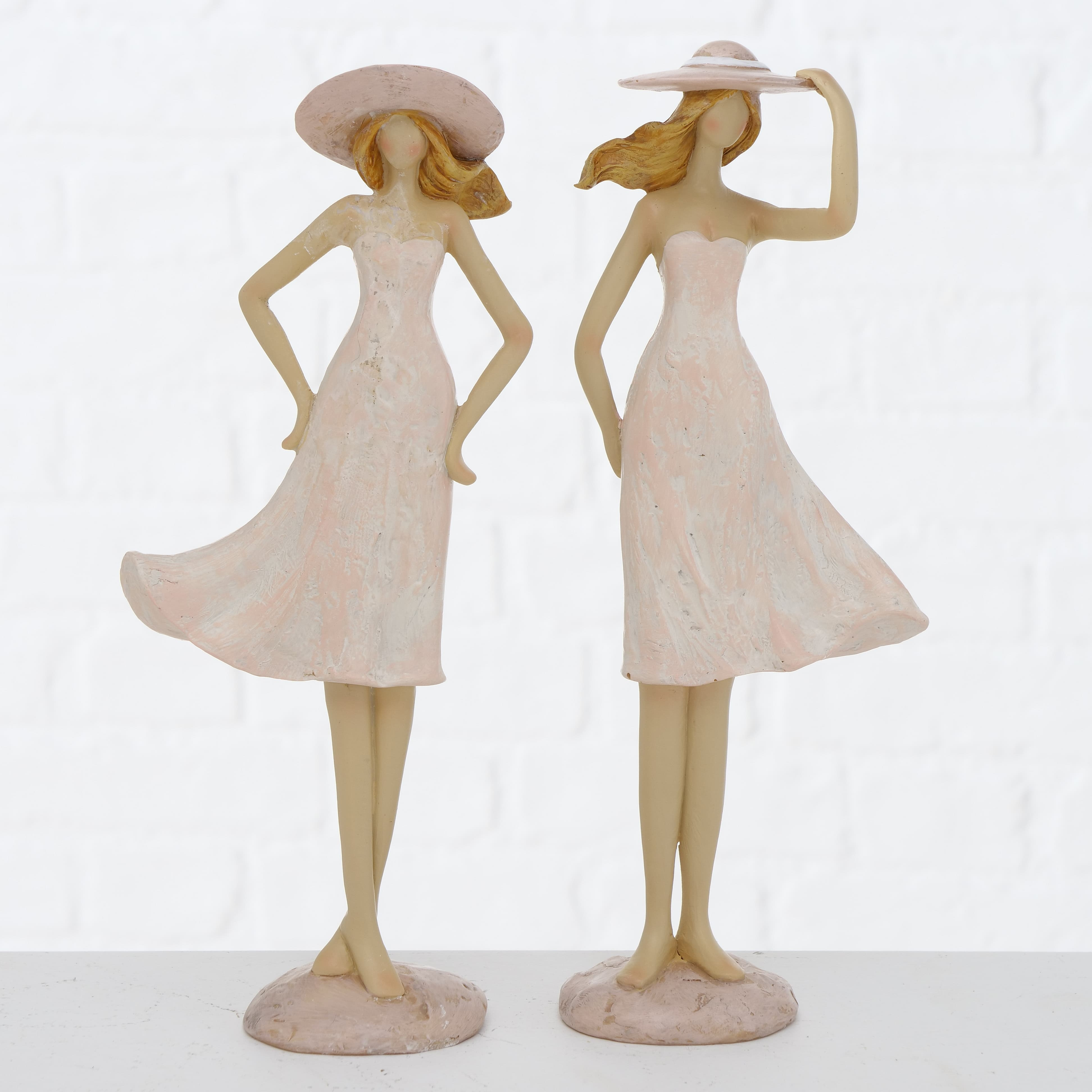 Decoratiune din polirasina Mikela Roz deschis, Modele Asortate, l10xA5xH25 cm poza