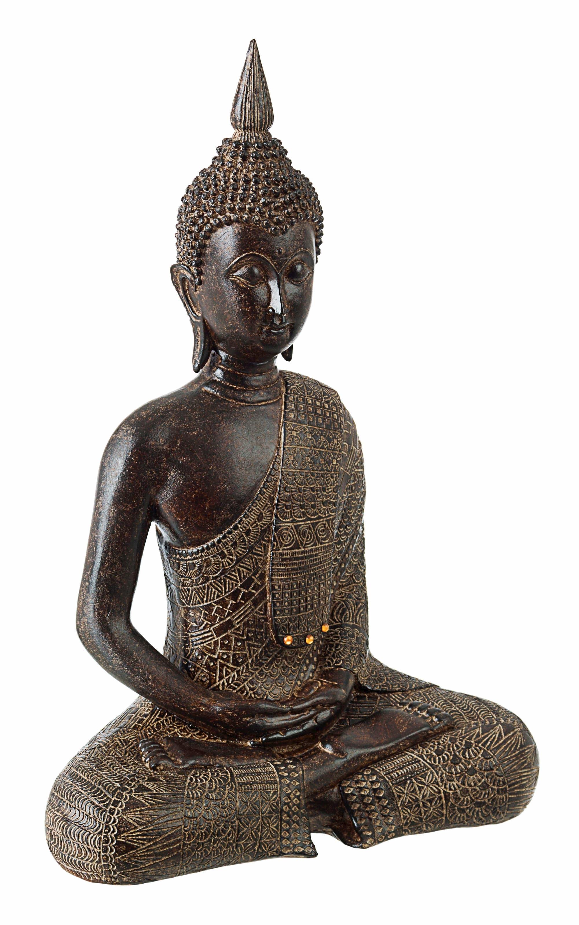 Decoratiune din polirasina Shiva Buddha Maro, l23xA13xH34 cm poza