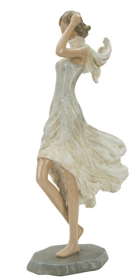 Decoratiune din rasina Donna Fashion C Natural, l12,5xA7xH25,5 cm