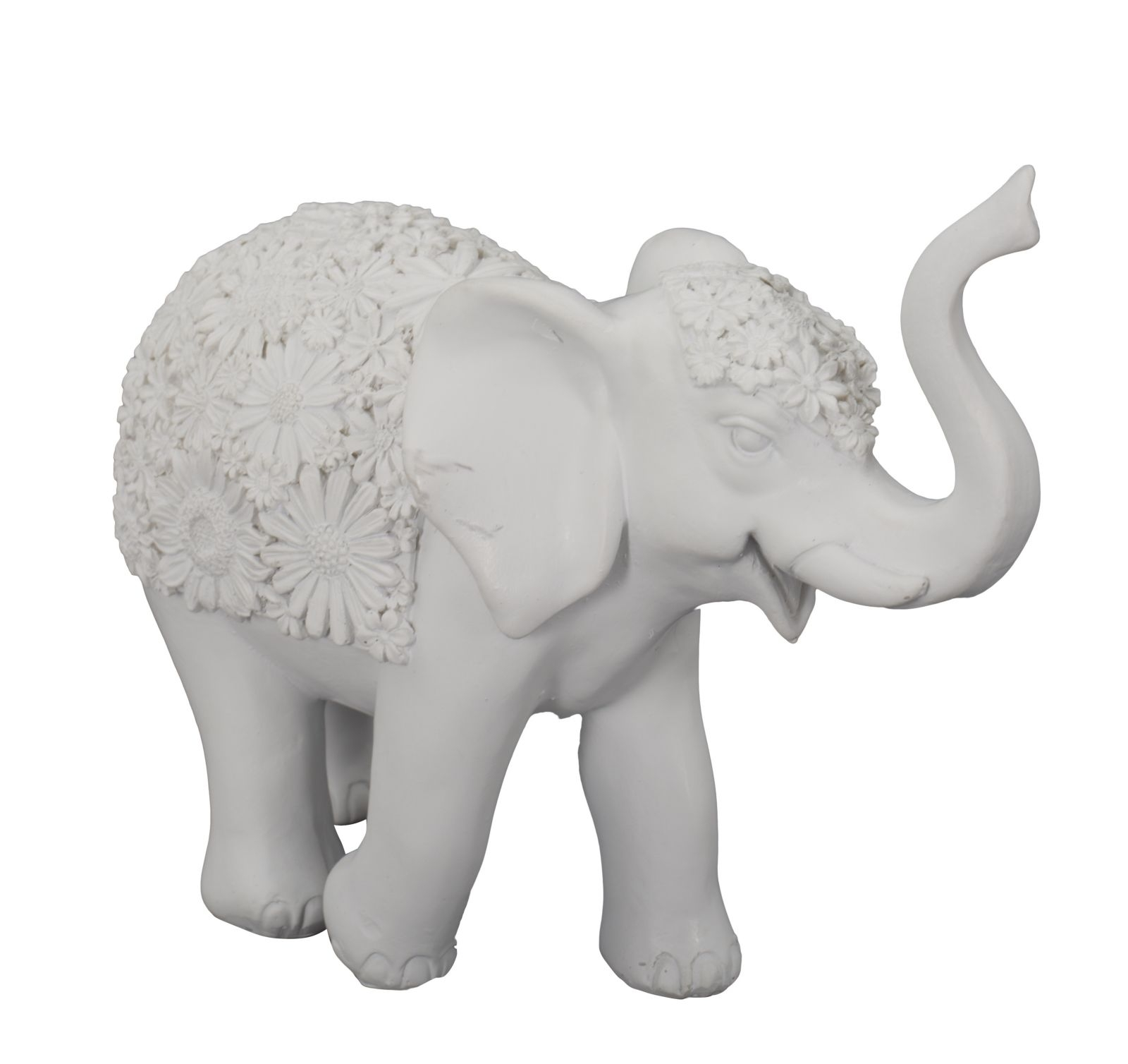 Decoratiune din rasina Elefante B Gri, l25,5xA9xH21 cm poza
