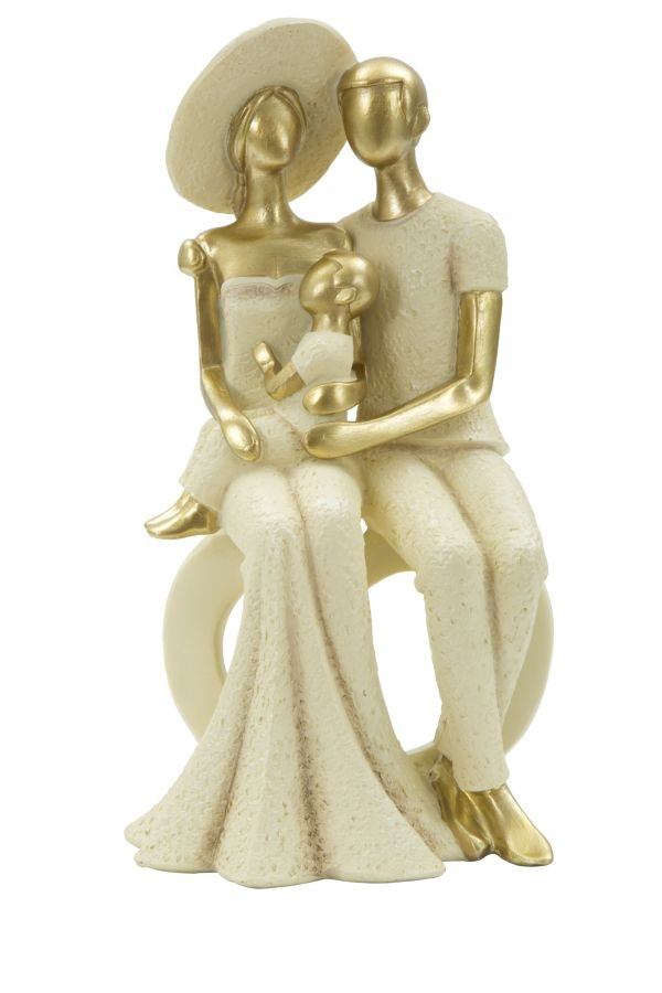 Decoratiune Family and baby Gold L125xl10xH24 cm