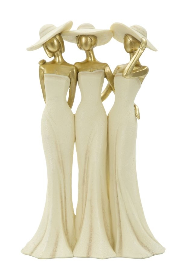 Decoratiune Ladys Gold L195xl95xH31 cm