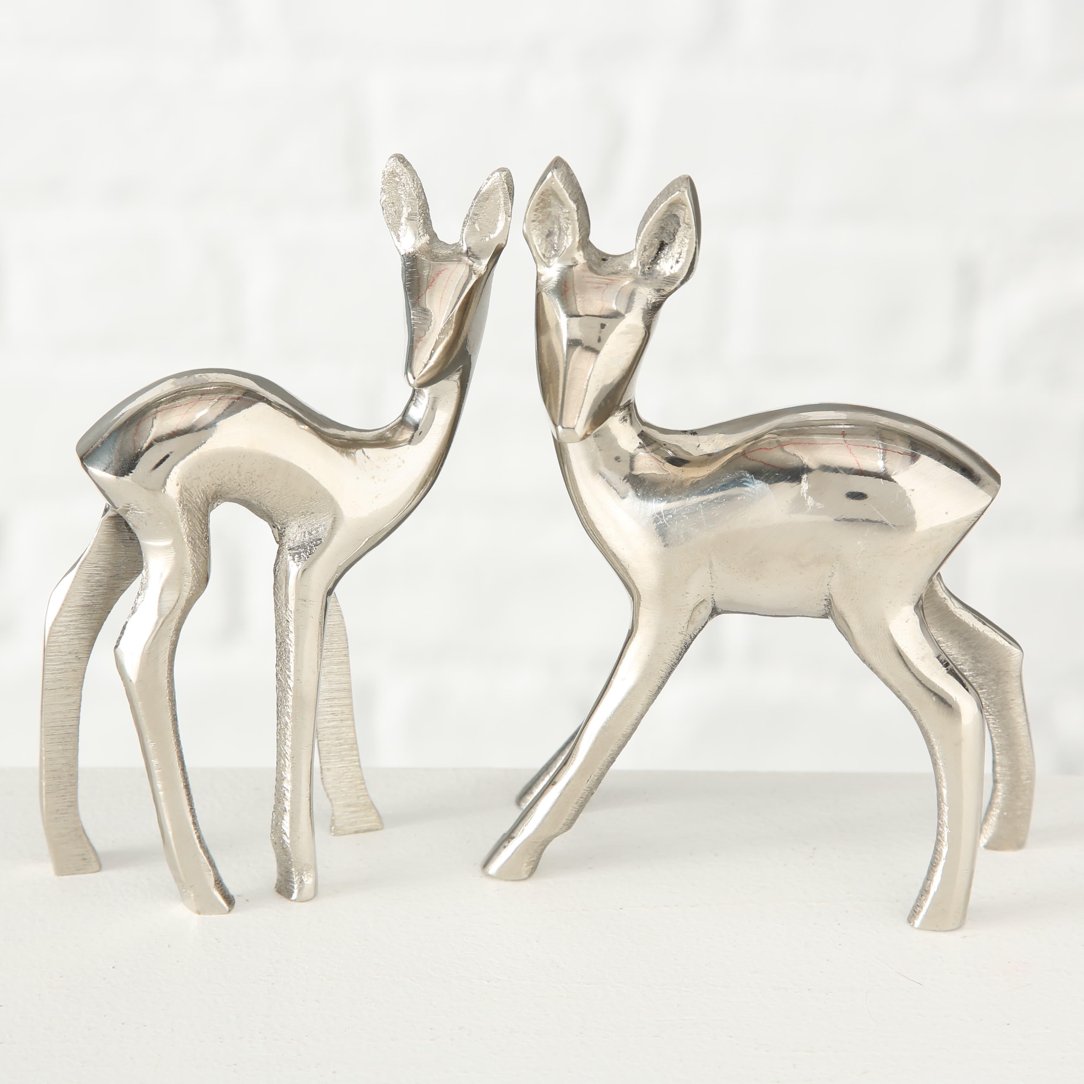 Decoratiune metalica Bambi Argintiu, Modele Asortate, l9xA13xH13 cm