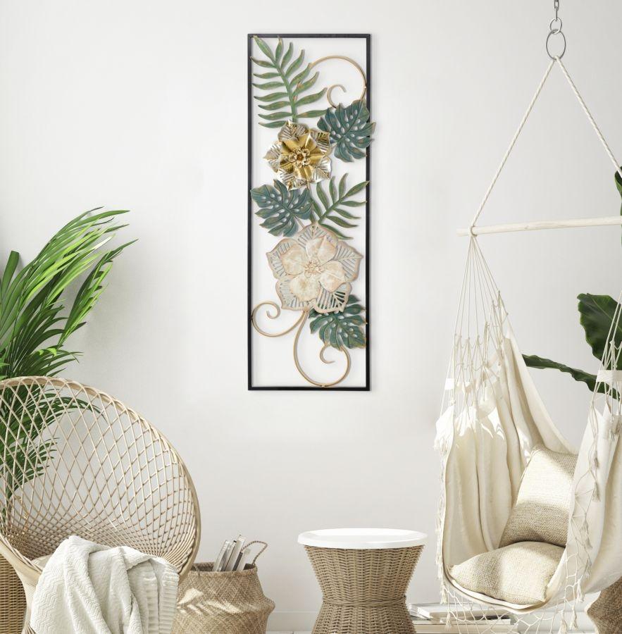 Decoratiune metalica de perete Campur-A Multicolor, l31xA4xH90 cm