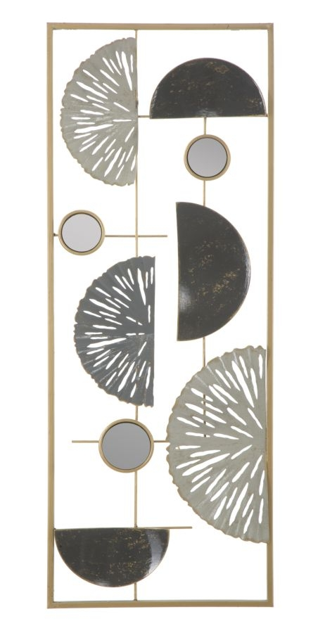 Decoratiune metalica de perete Geometric Multicolor, l28,5xA2,5xH74 cm imagine