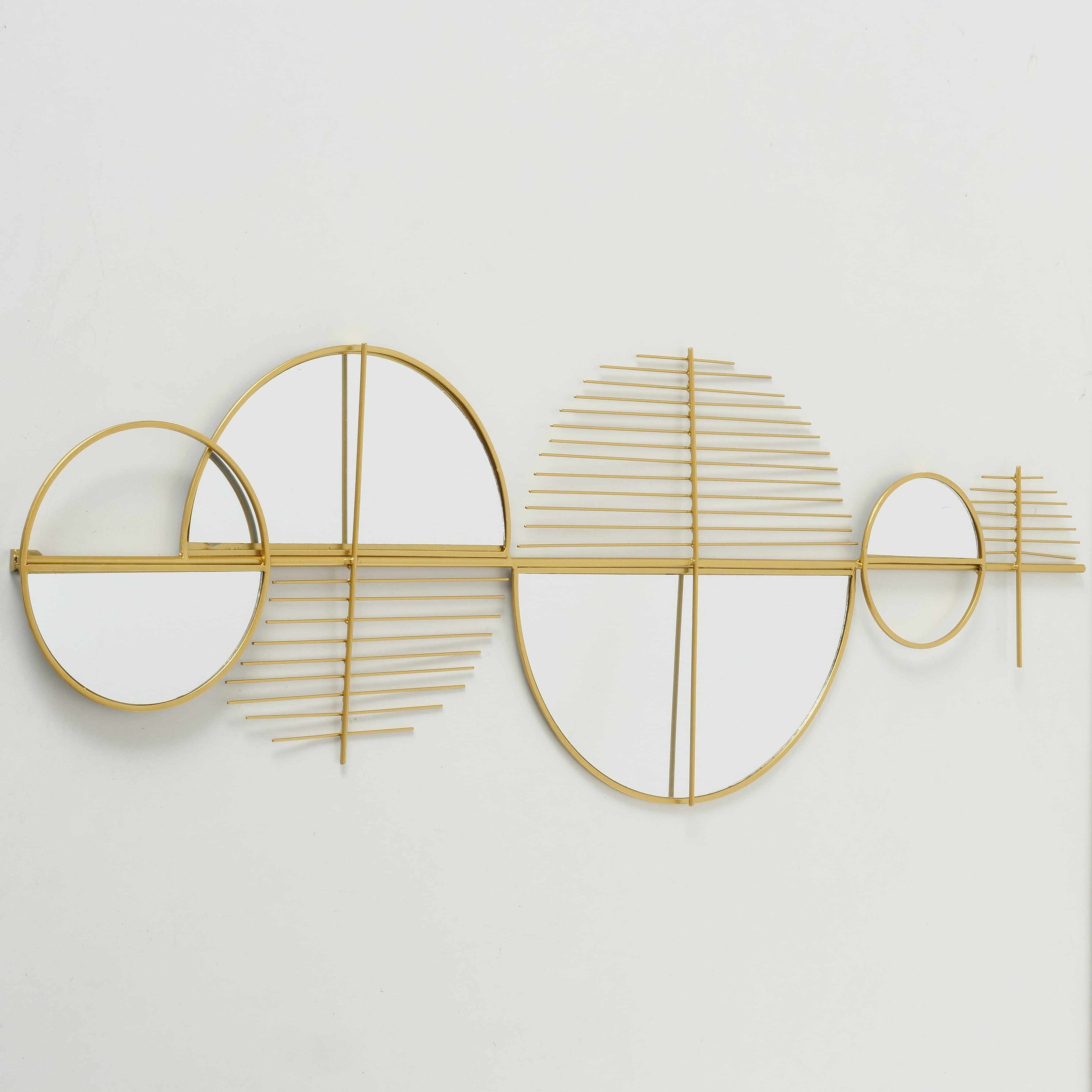 Decoratiune metalica de perete Gogolo Auriu, l114xA3xH39 cm poza