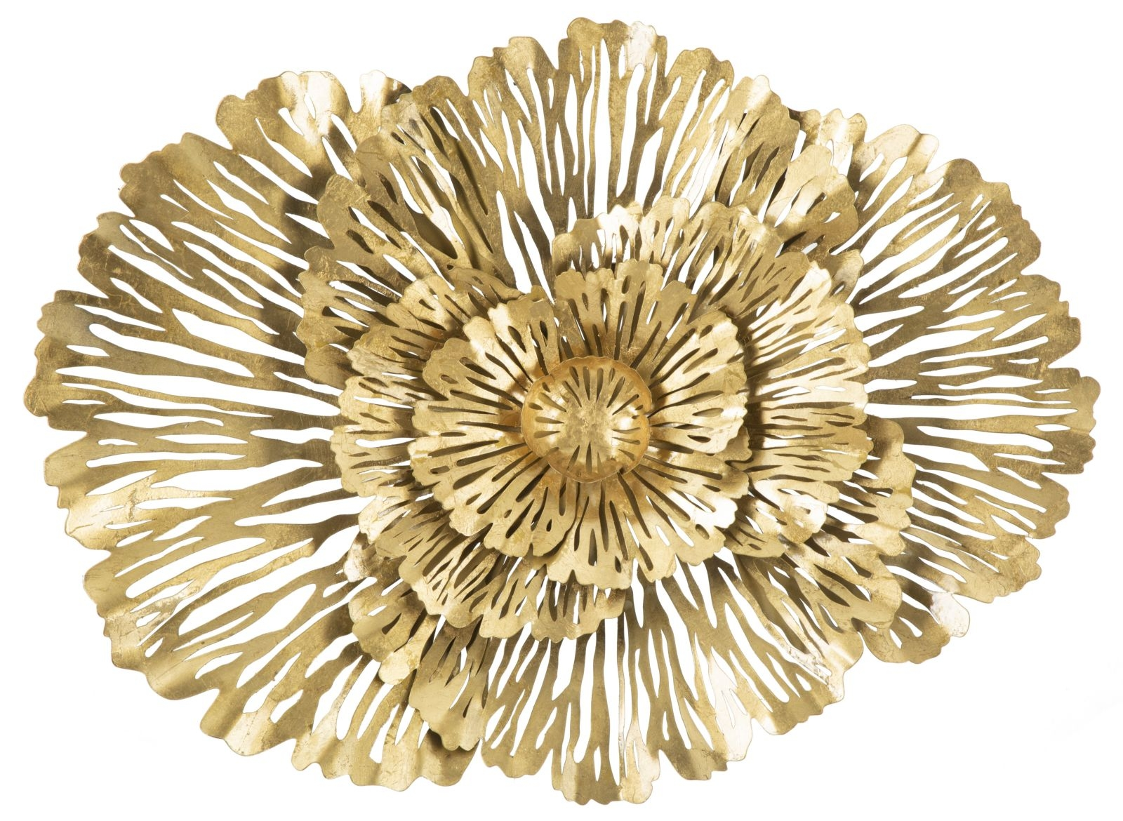 Decoratiune metalica de perete Ibis Glam Auriu, l74xA10xH55 cm poza