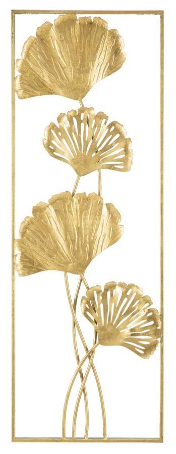 Decoratiune metalica de perete Iris-B Glam Auriu, l31xA3xH90 cm poza