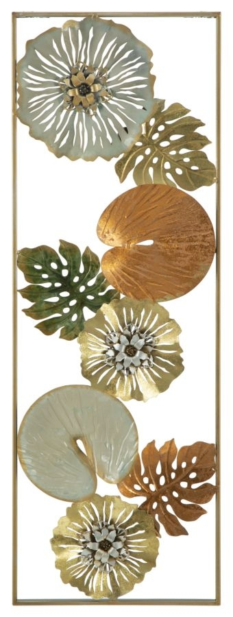 Decoratiune metalica de perete Leaf-A L315xl3xH90 cm