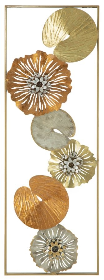 Decoratiune metalica de perete Leaf-B L315xl3xH90 cm