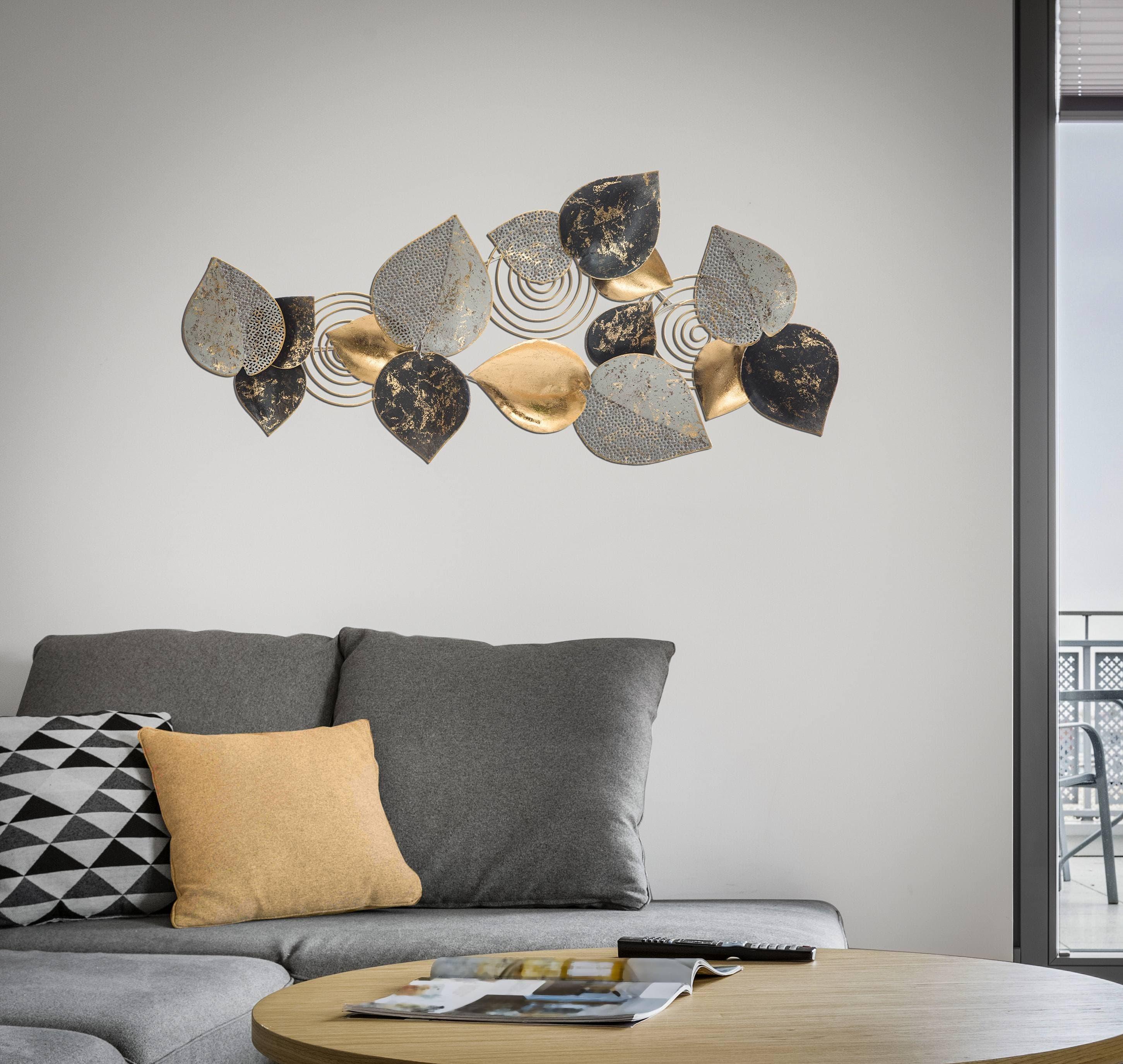 Decoratiune metalica de perete Leaf A Multicolor, l97xA5,5xH43 cm poza