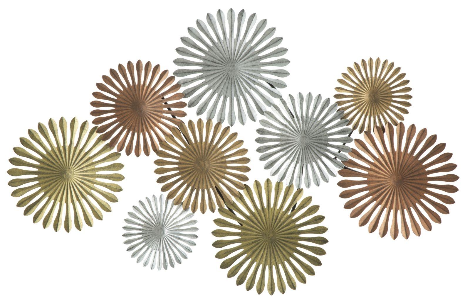 Decoratiune metalica de perete Oxy-B L114xl5xH74 cm