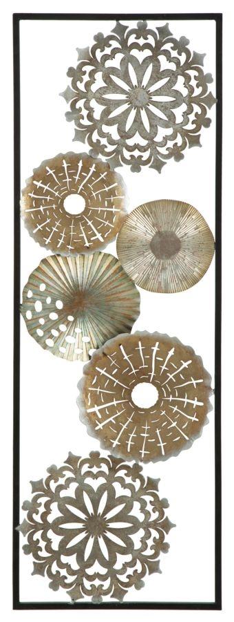Decoratiune metalica de perete Tud-B L31xl18xH90 cm