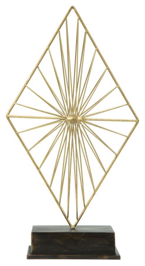 """Decoratiune metalica """"Glam Piry"""" Gold / Black, H 50,5 cm"""