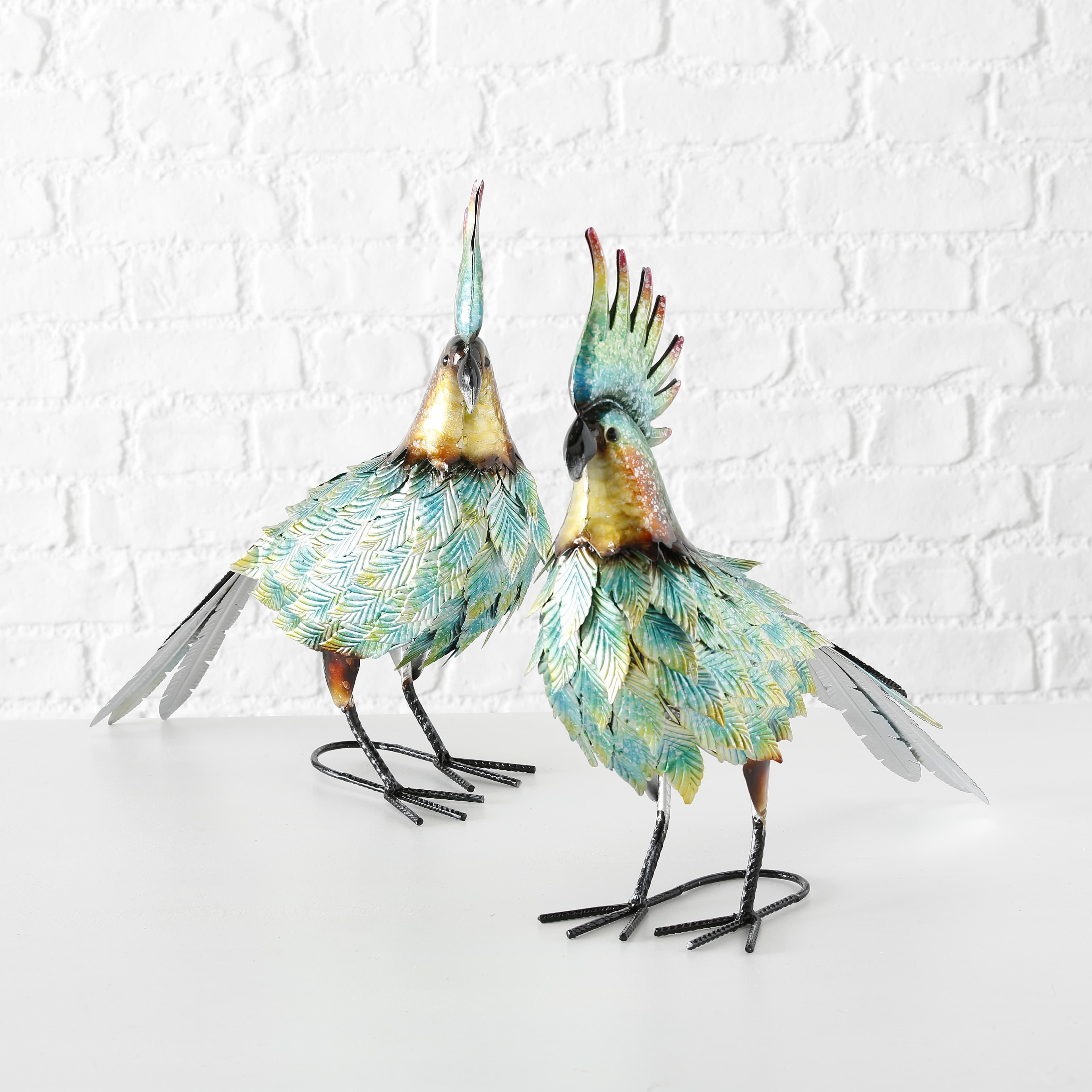 Decoratiune metalica Gringo Bird Multicolor, Modele Asortate, l43xA15xH43 cm