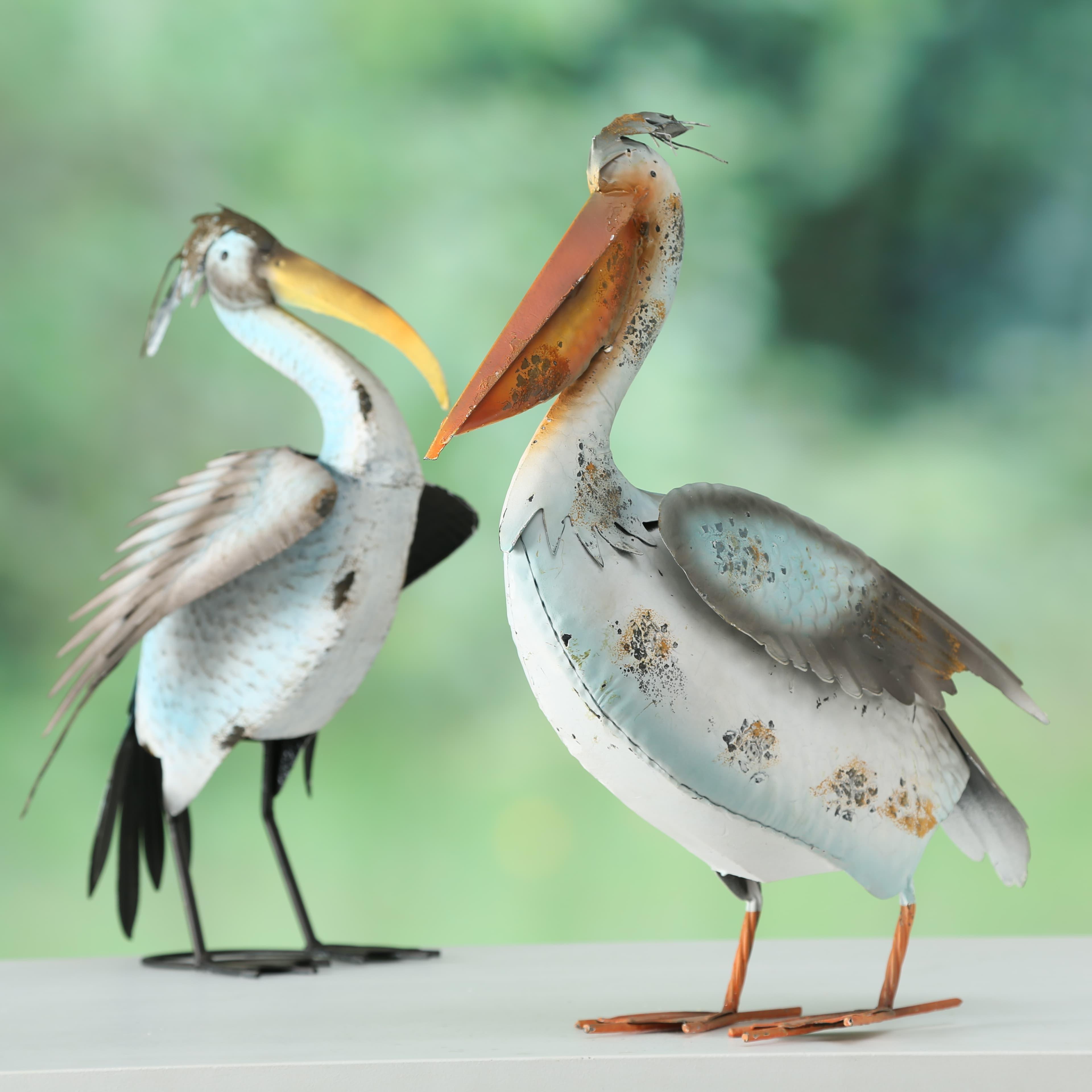 Decoratiune metalica Jerry Bird Multicolor, Modele Asortate, l41xA18xH65 cm