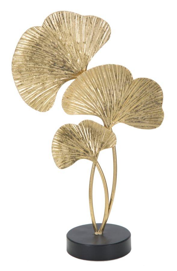 Decoratiune metalica Leaves Auriu, l24,5xA10,5xH40,5 cm poza