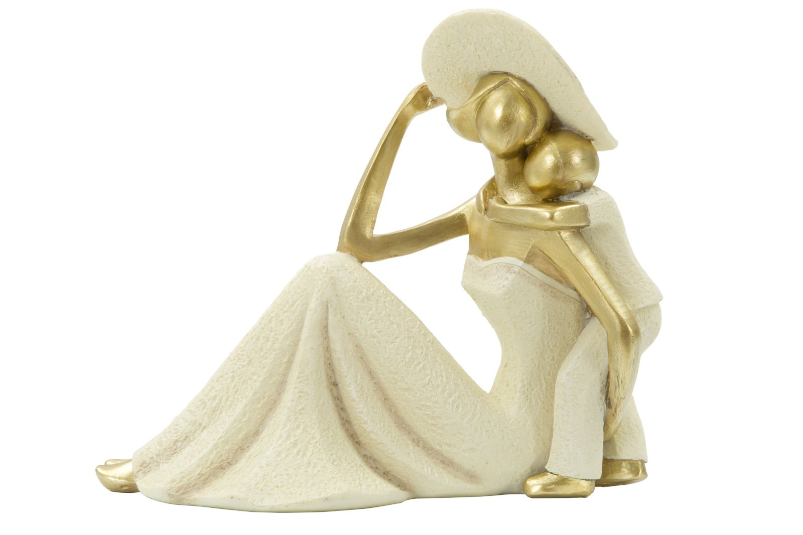 Decoratiune Woman and son Gold L22xl125xH18 cm