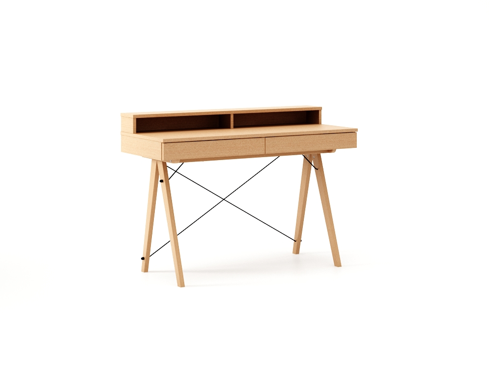 Masa de birou Basic Beech, L100xl50xh85 cm