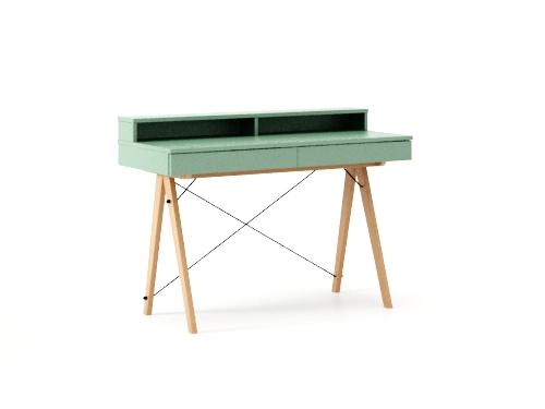 Masa de birou Basic Beech Mint, L100xl50xh85 cm