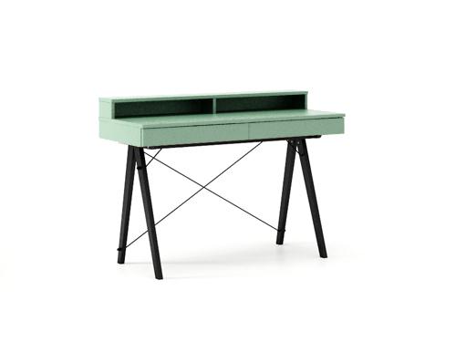 Masa de birou Basic Black Mint, L100xl50xh85 cm