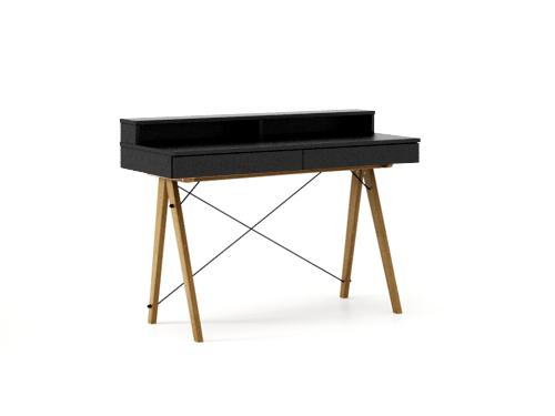 Masa de birou Basic Oak Black, L100xl50xh85 cm