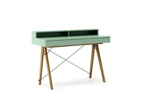 Masa de birou Basic Oak Mint, L100xl50xh85 cm