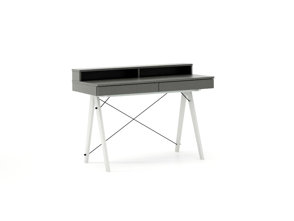 Masa de birou Basic White Grey, L100xl50xh85 cm
