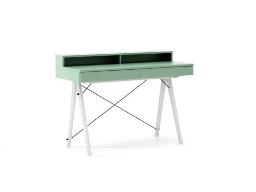 Masa de birou Basic White Mint, L100xl50xh85 cm
