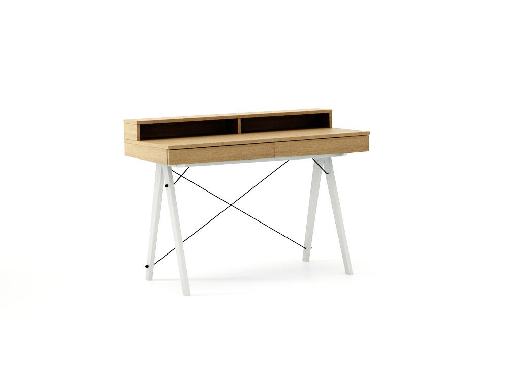 Masa de birou Basic White Oak, L100xl50xh85 cm