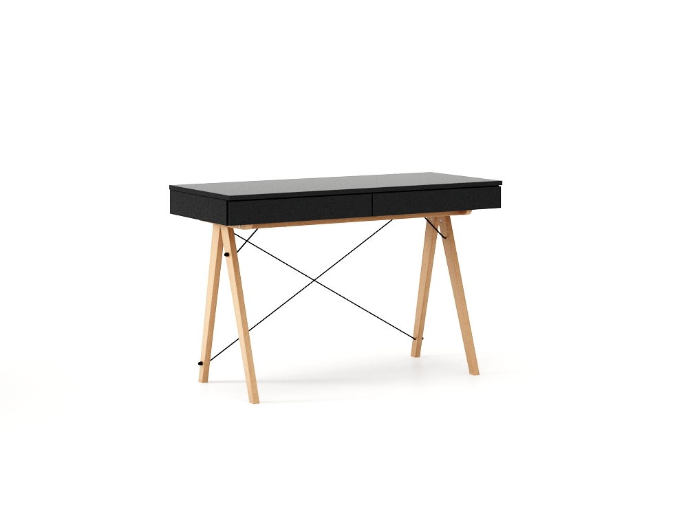 Masa de birou desk Basic Beech Black, L100xl50xh75 cm