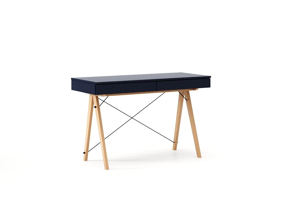 Masa de birou desk Basic Beech Dark Navy, L100xl50xh75 cm