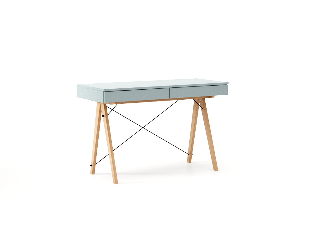 Masa de birou desk Basic Beech Ice Blue, L100xl50xh75 cm
