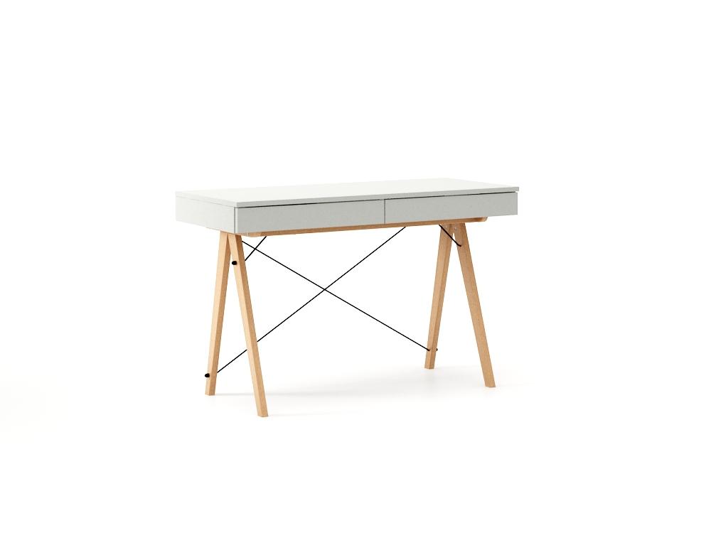 poze cu Masa de birou desk Basic Beech Light Grey, L100xl50xh75 cm