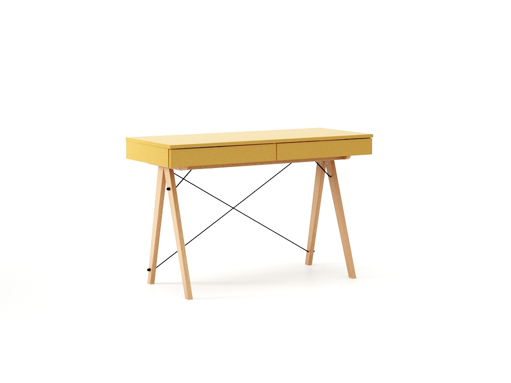 poze cu Masa de birou desk Basic Beech Mustard, L100xl50xh75 cm