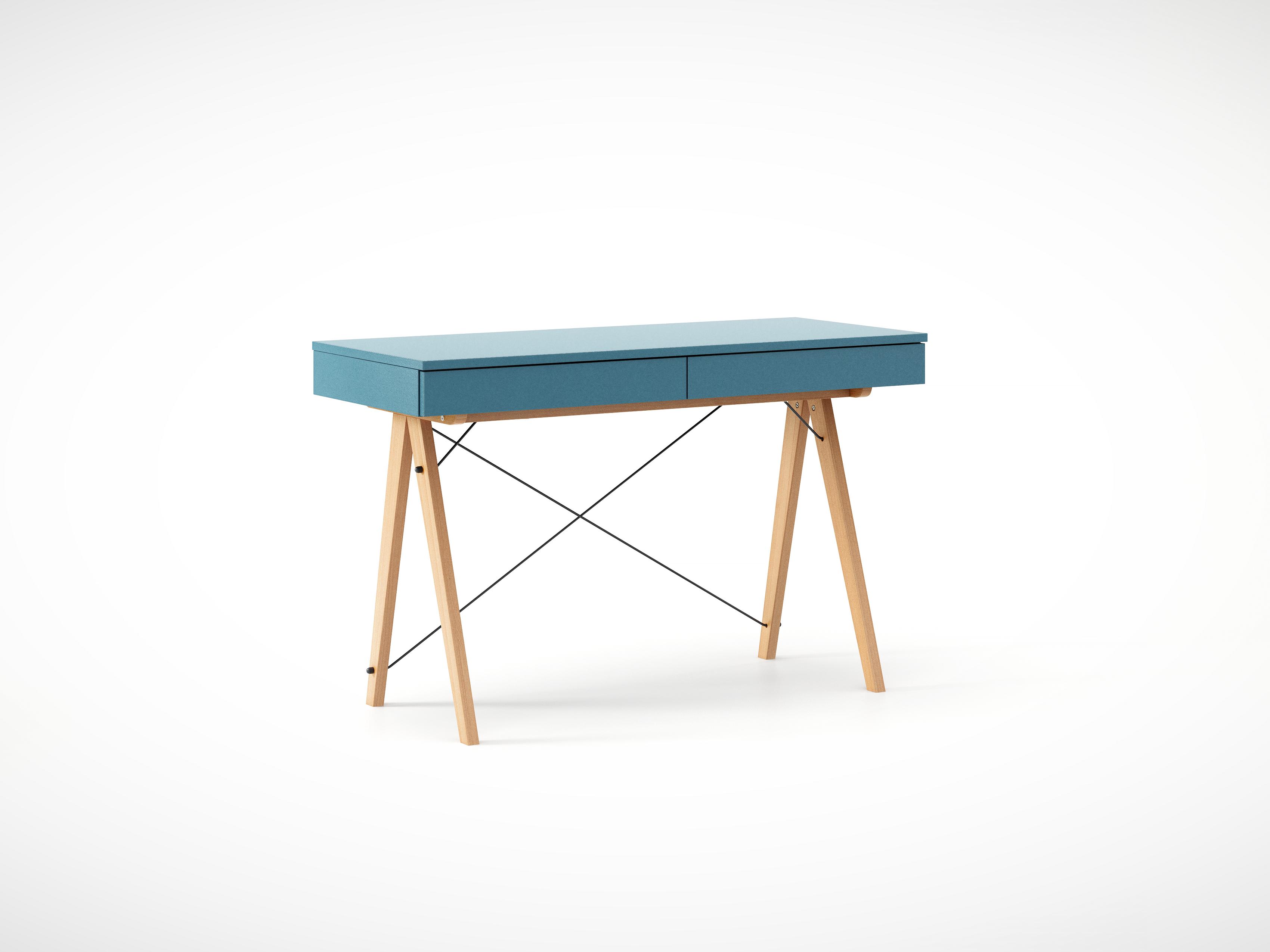 Masa de birou desk Basic Beech Oceanic, L100xl50xh75 cm