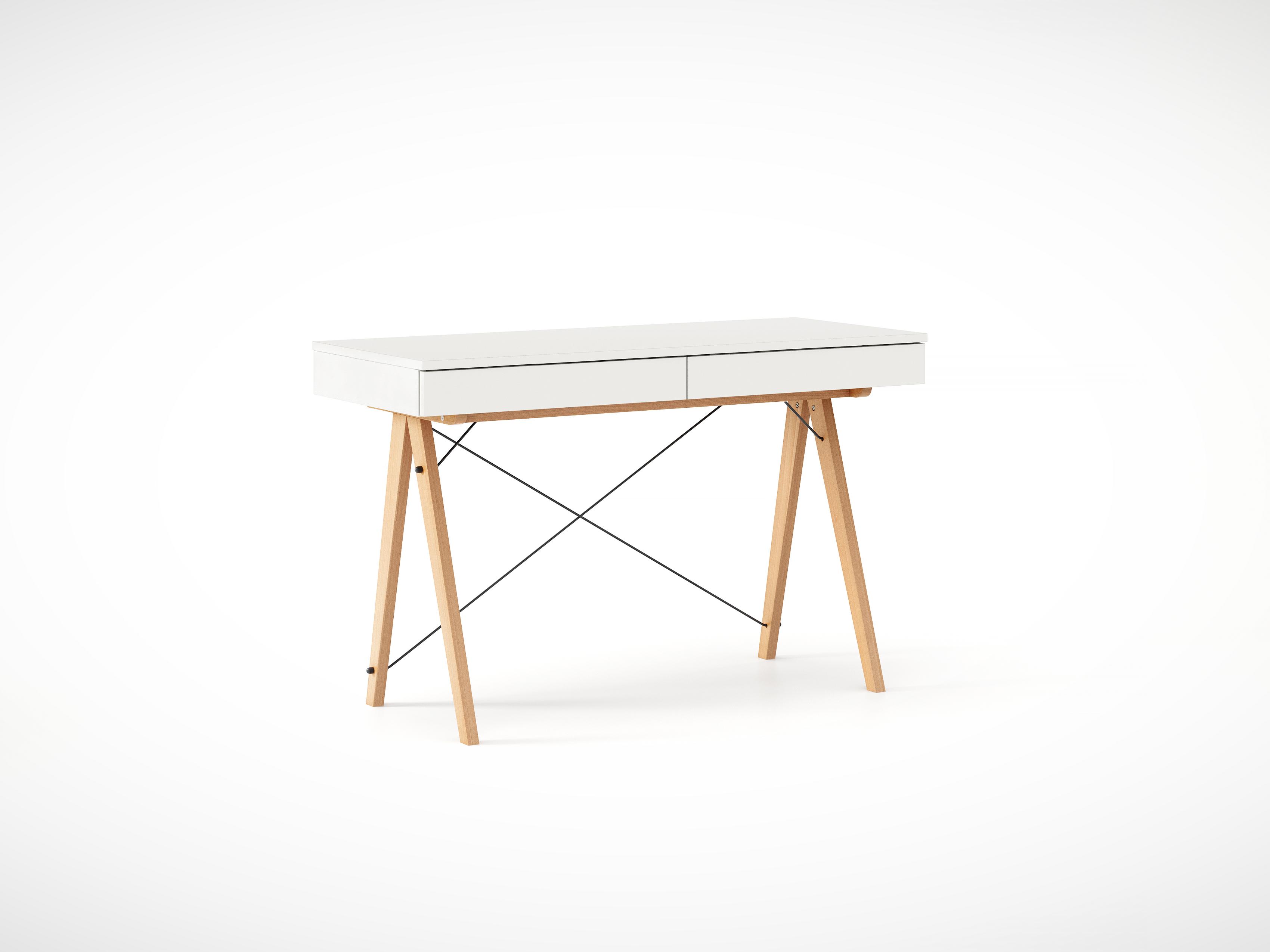 Masa de birou desk Basic Beech White, L100xl50xh75 cm