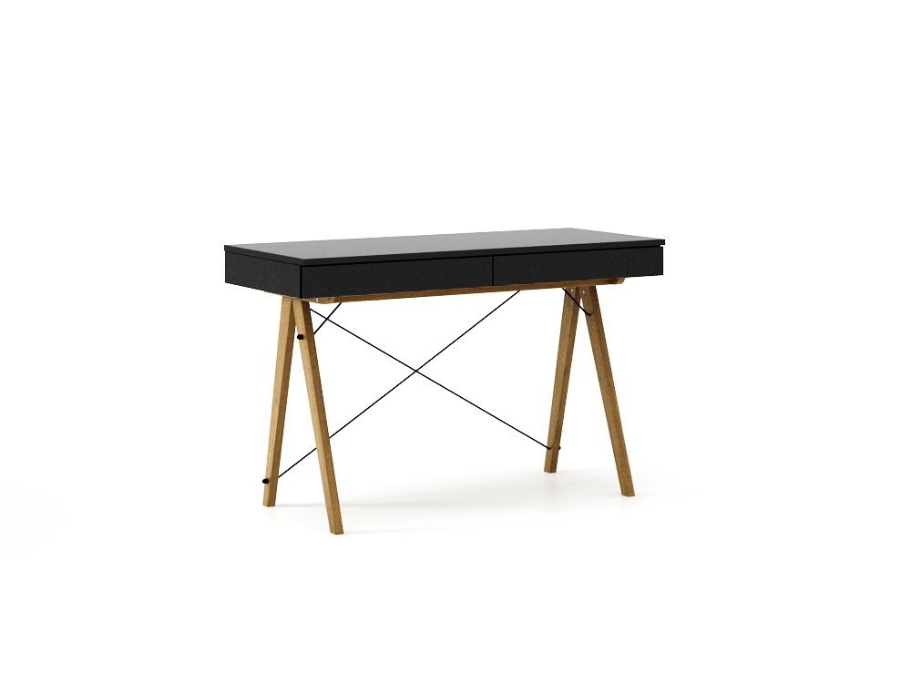 Masa de birou desk Basic Oak Black, L100xl50xh75 cm