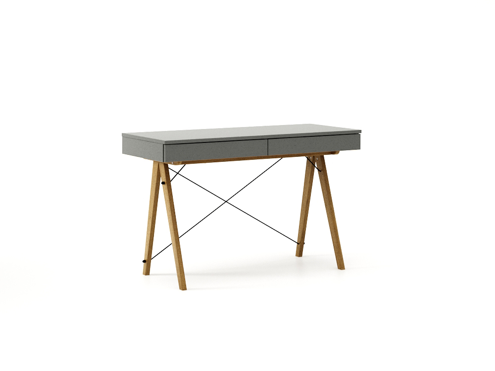 Masa de birou desk Basic Oak Grey, L100xl50xh75 cm