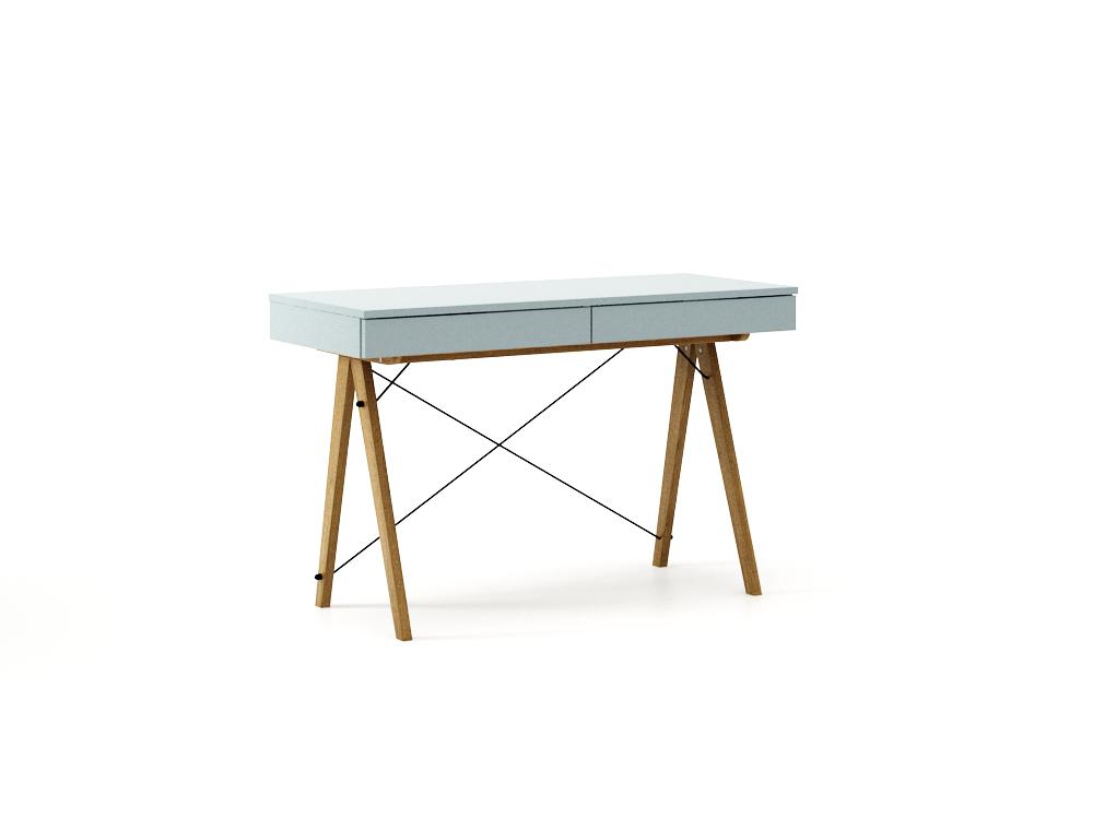 Masa de birou desk Basic Oak Ice Blue, L100xl50xh75 cm