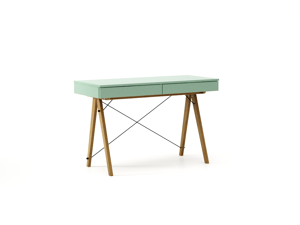 Masa de birou desk Basic Oak Mint, L100xl50xh75 cm