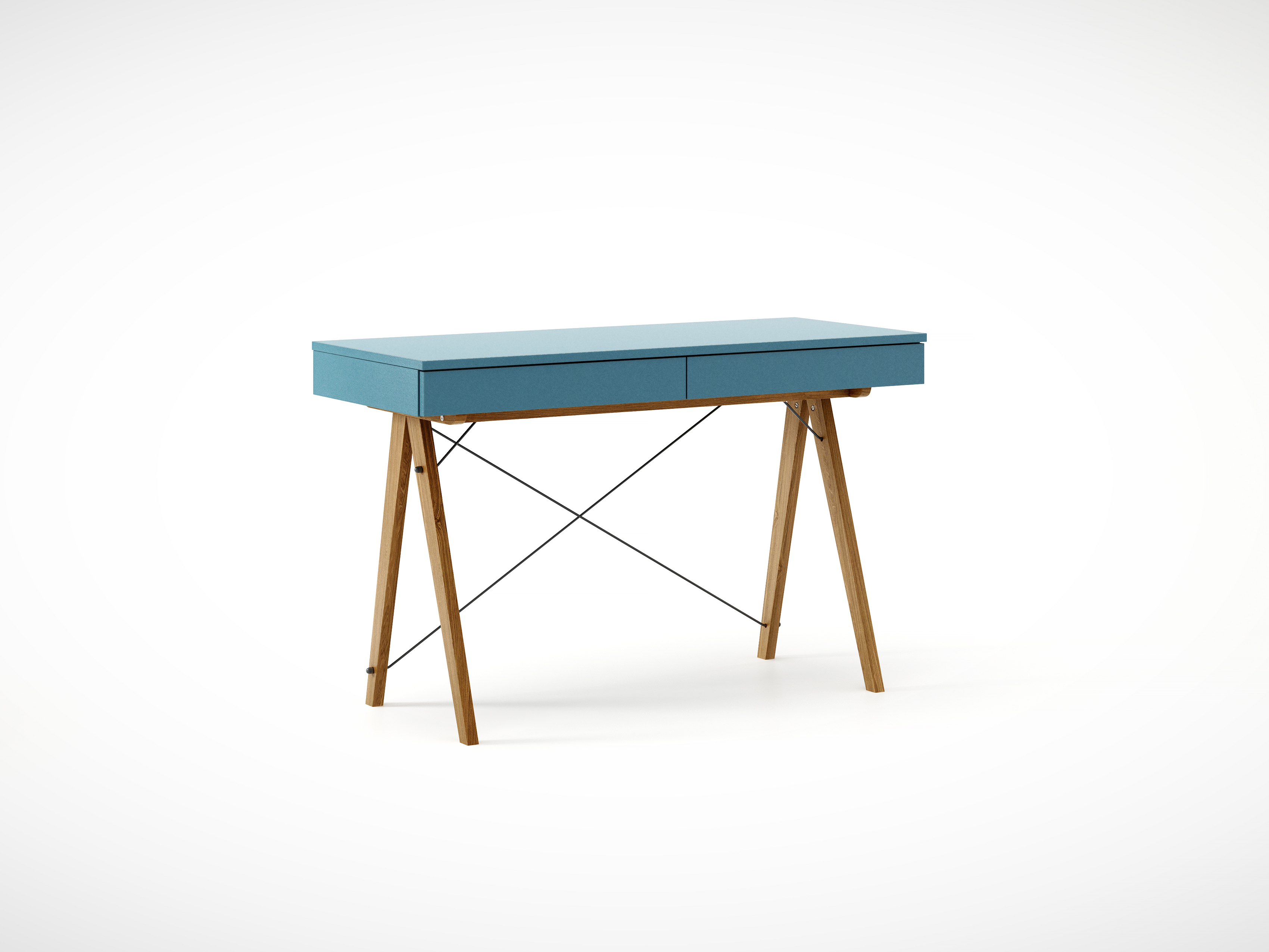 Masa de birou desk Basic Oak Oceanic, L100xl50xh75 cm