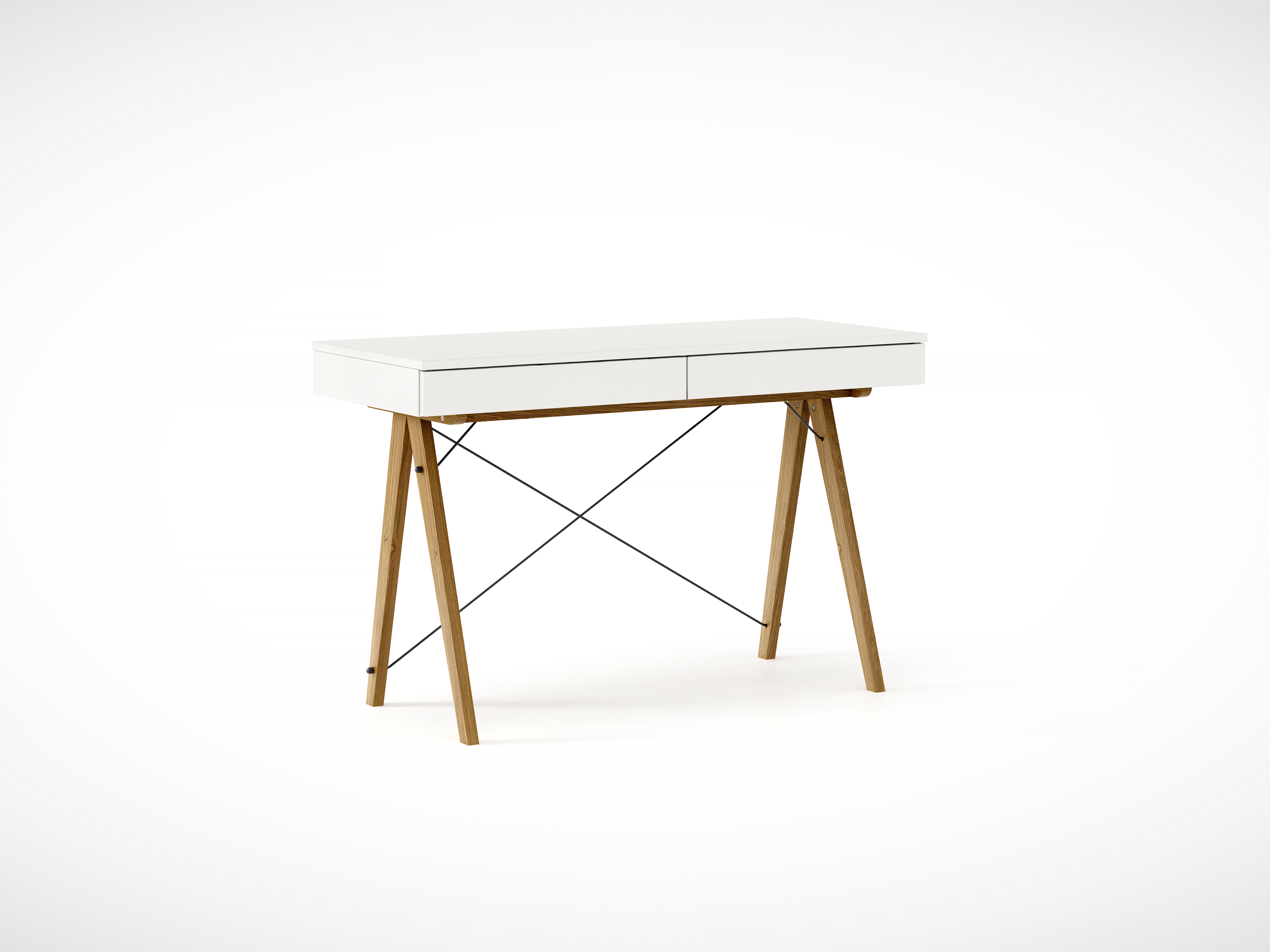 Masa de birou desk Basic Oak White, L100xl50xh75 cm