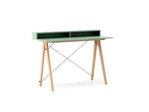 Masa de birou Desk Slim Beech Mint II, L120xl50xh85 cm