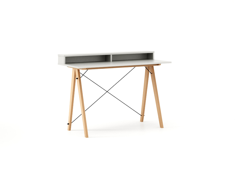 Masa de birou Desk Slim Beech White II, L120xl50xh85 cm